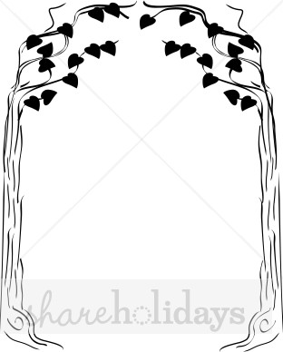Heart tree thanksgiving backgrounds. Bridal clipart arch