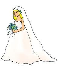Wedding make your own. Bridal clipart art