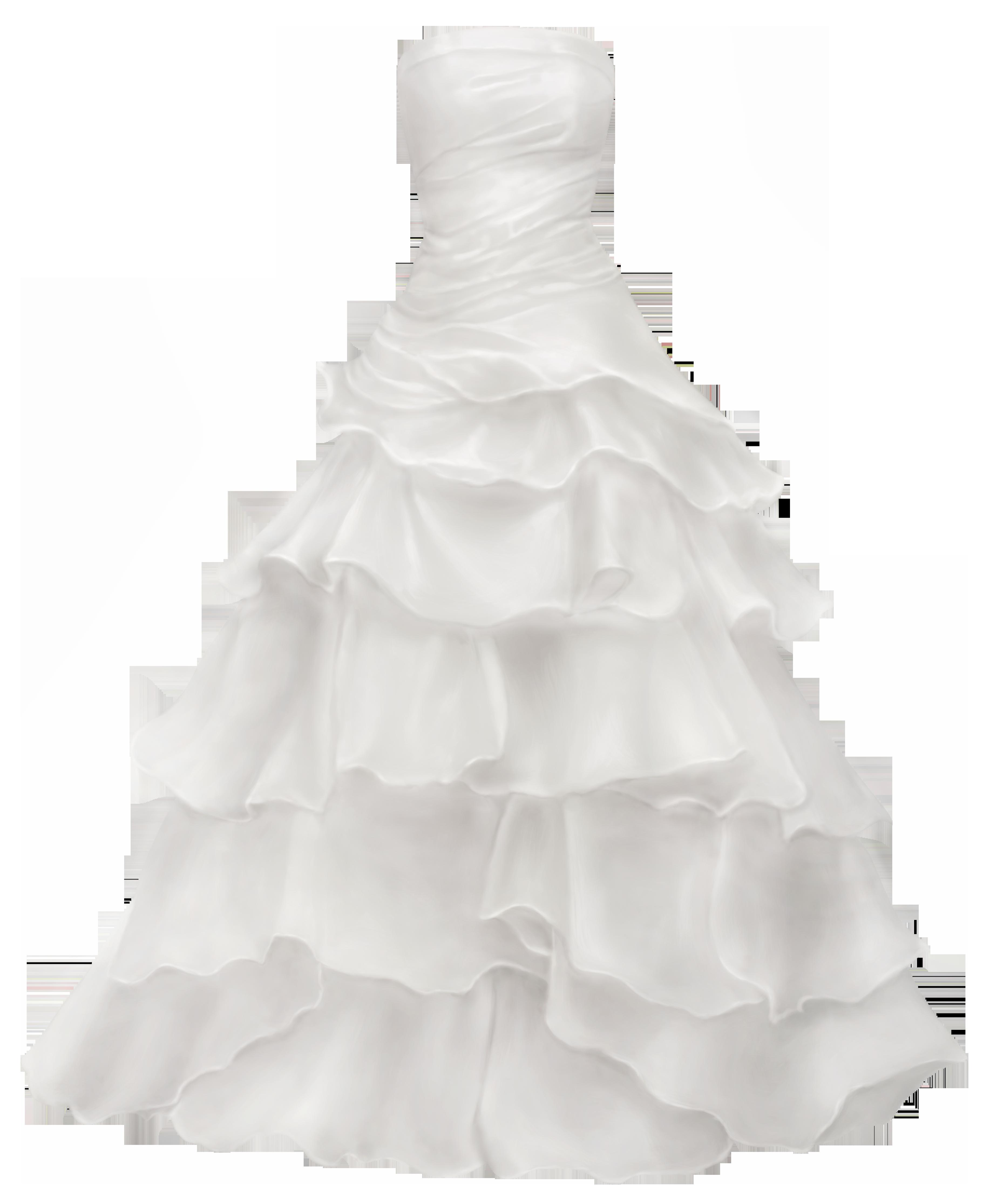 Wedding dress png clip. Bridal clipart ball gown