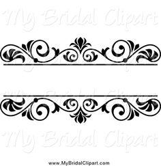 Bridal clipart border. Wedding clip art black