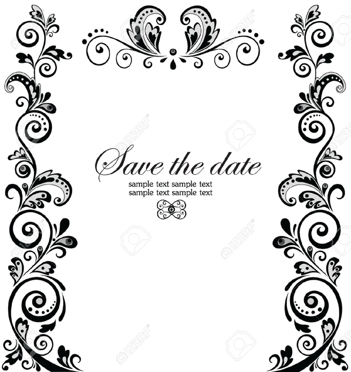Bridal clipart border. Wedding cards borders incep