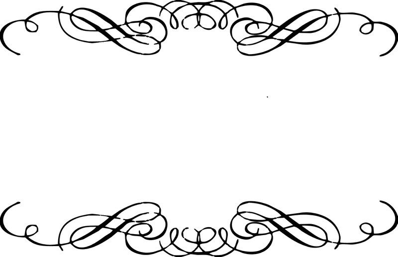 Swirl paper printables scrapbooking. Bridal clipart border