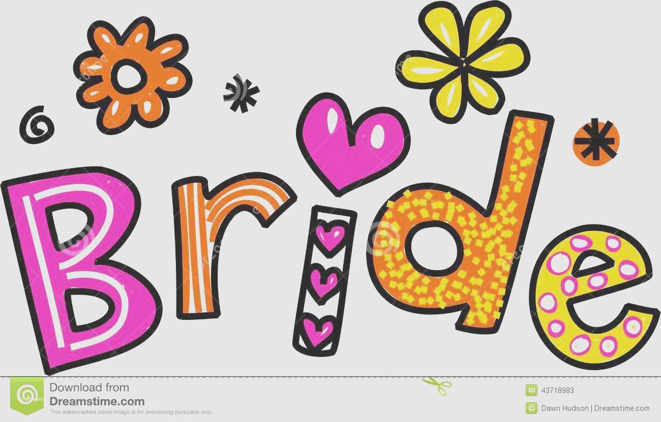 Bride clipart font. Fresh wedding shower clip