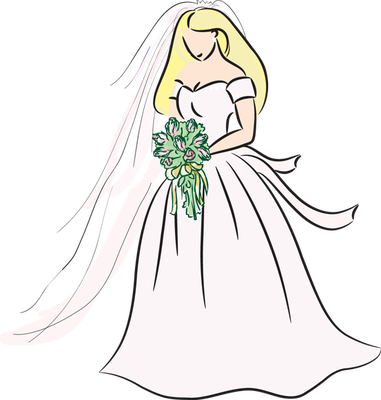 Bridal clipart bride.  clipartlook