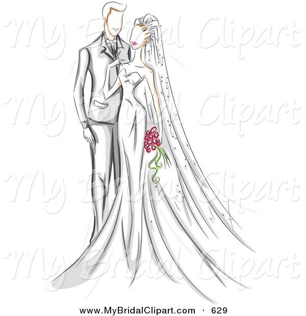 Royalty free wedding stock. Bridal clipart bride
