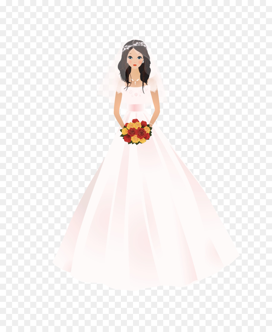 Party invitation dress . Bride clipart wedding