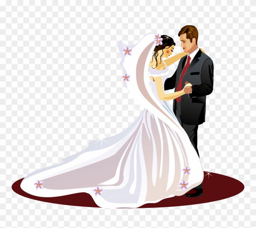Wedding invitation bridegroom clip. Bridal clipart bride groom