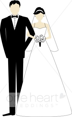 And images. Bridal clipart bride groom