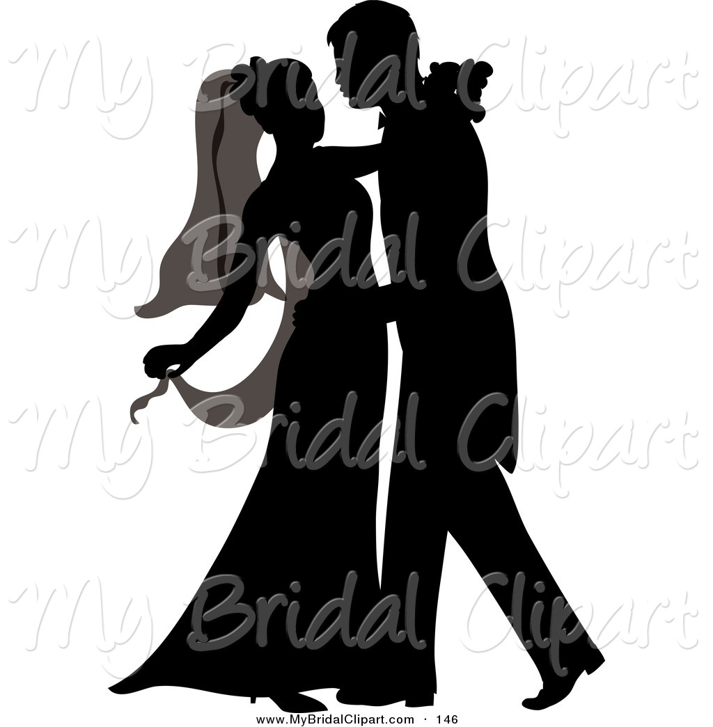 Bridal clipart bride silhouette. Groom clip art at