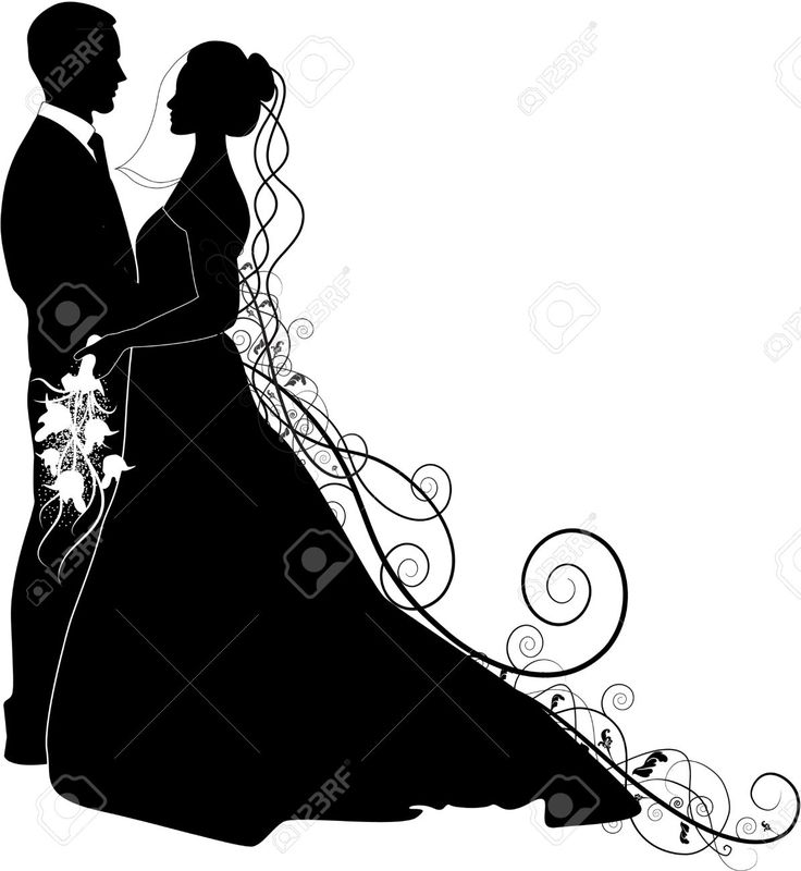 Bridal clipart bride silhouette. At getdrawings com free
