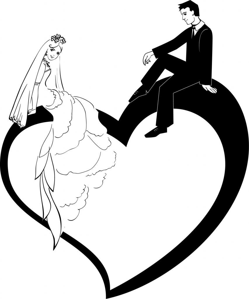 And groom gallery for. Bridal clipart bride silhouette
