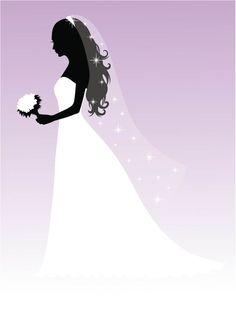 Bridal bride silhouette