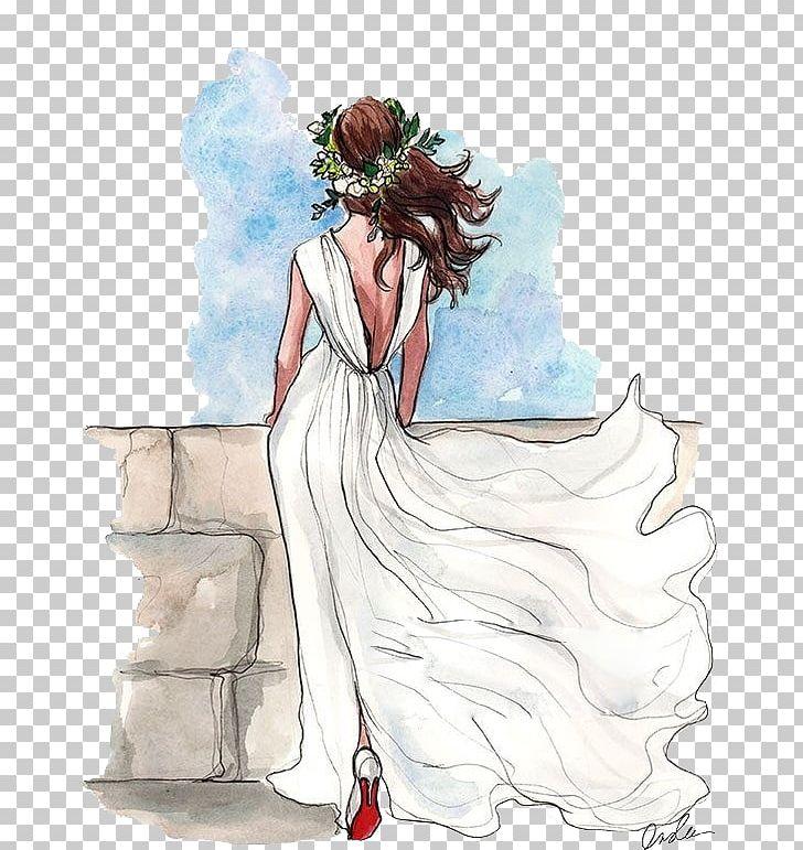 Bridal clipart bride sketch. Drawing wedding dress png