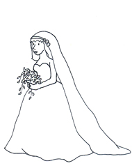 Wedding make your own. Bridal clipart bride sketch