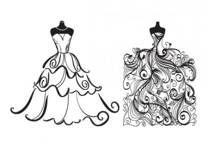 Bridal clipart bride sketch. Free picture of brides