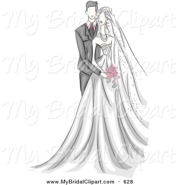 Bridal clipart bride sketch. Royalty free stock designs