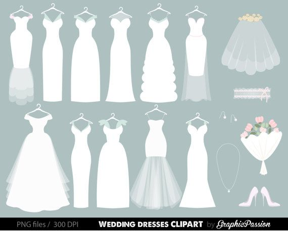 best mixed all. Bride clipart wedding gown