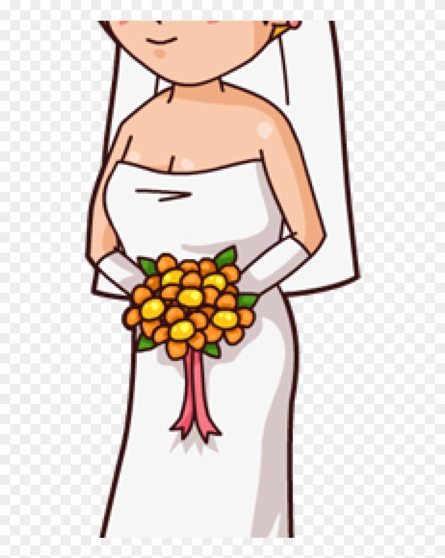 Bridal clipart cartoon. Bride clip art for