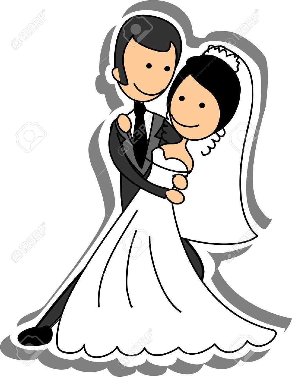 Stock vector weddings bride. Bridal clipart cartoon