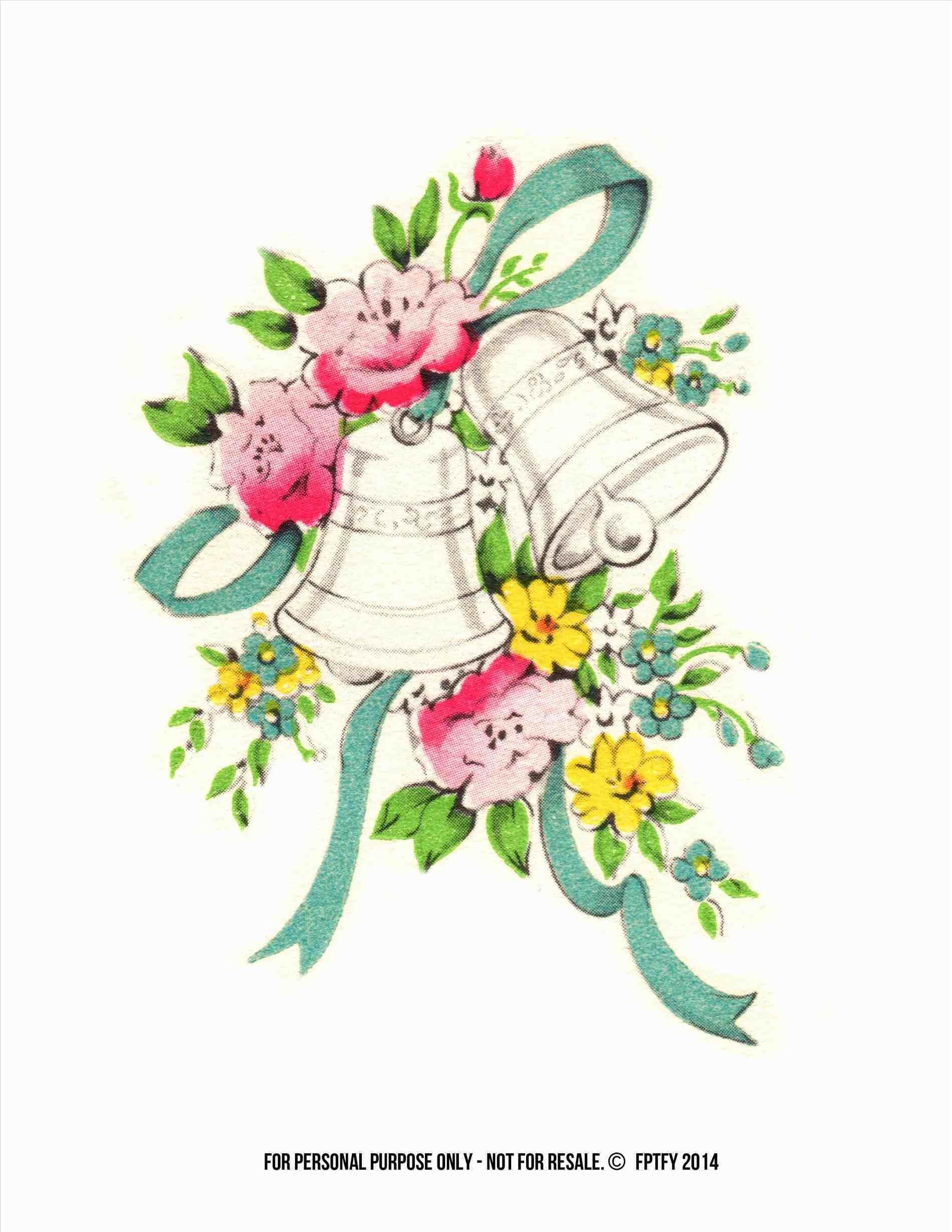 Free wedding bells ring. Bridal clipart cartoon