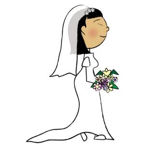 Bridal clipart cartoon. Free bride cliparts download