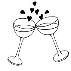 Champaign clipart wedding. Champagne flutes free clip