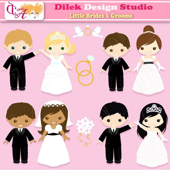 Bridal clipart cute. Free brides cliparts download
