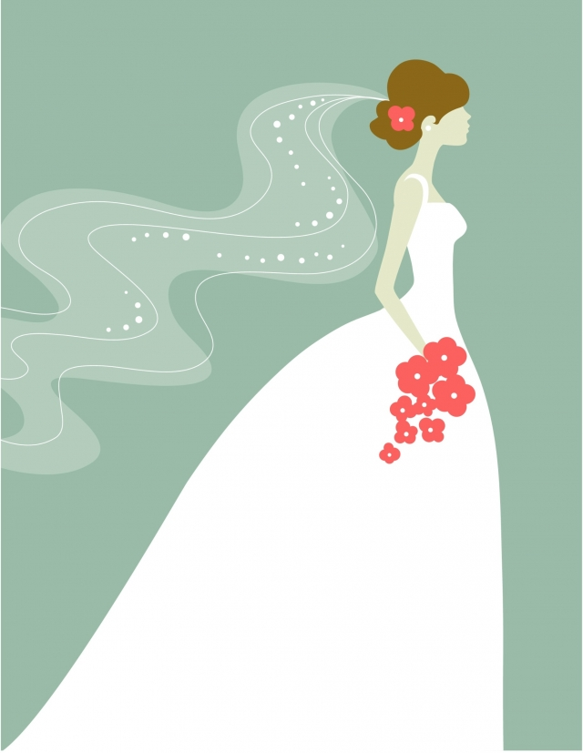 Bride cliparts to be. Bridal clipart elegance