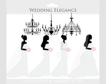 Bridal clipart elegance. Wedding clip art dress
