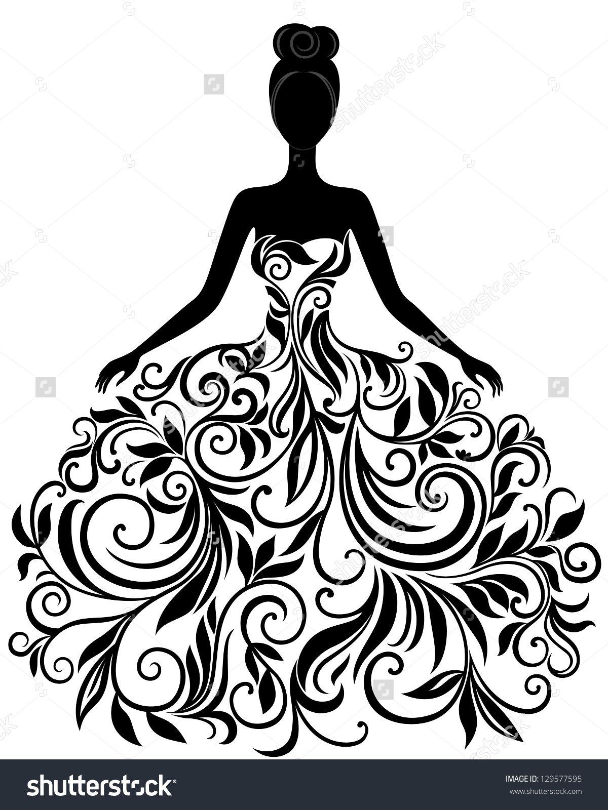 Pin by mila svir. Bridal clipart elegance