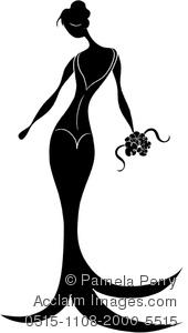 Bridal clipart elegance. Clip art image of