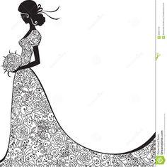 Silouhette h t pinterest. Bridal clipart elegance