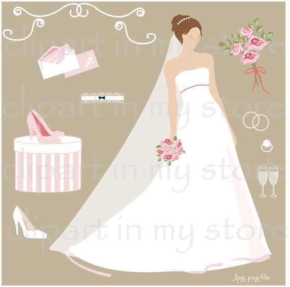 Bride clipart elegant bridal. Silhouette brides clip art