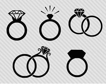 Engagement clipart elegant bridal. Etsy