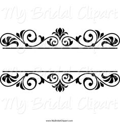 Bridal clipart frame. Of a black and