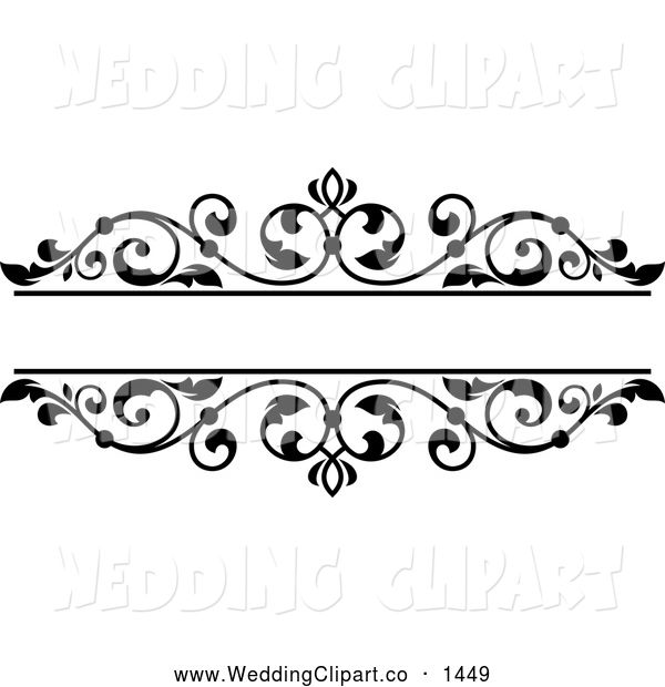 Bridal clipart frame. Vector marriage of a