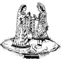 Bridal clipart hindu. Wedding symbols indian