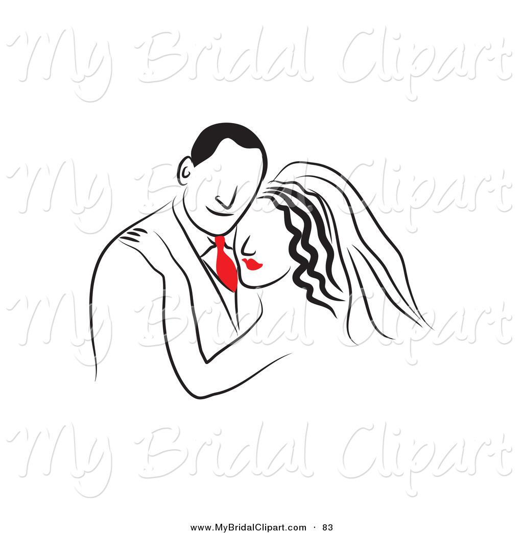 Of a drawn bride. Bridal clipart line
