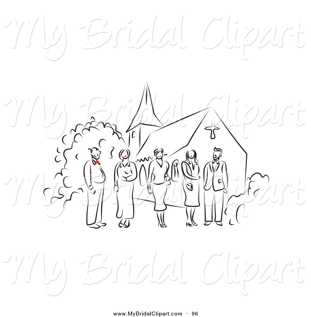 Of a drawn happy. Bridal clipart line