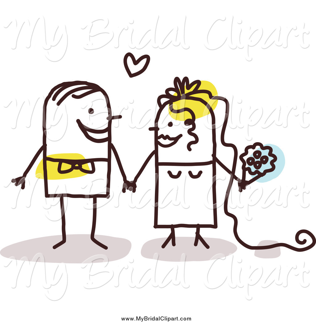 Of a stick couple. Bridal clipart marriage