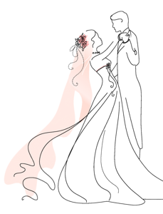 wedding clip art. Bridal clipart marriage