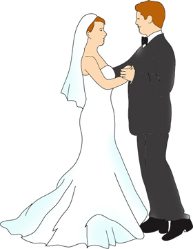 Wedding make your own. Bridal clipart marriage