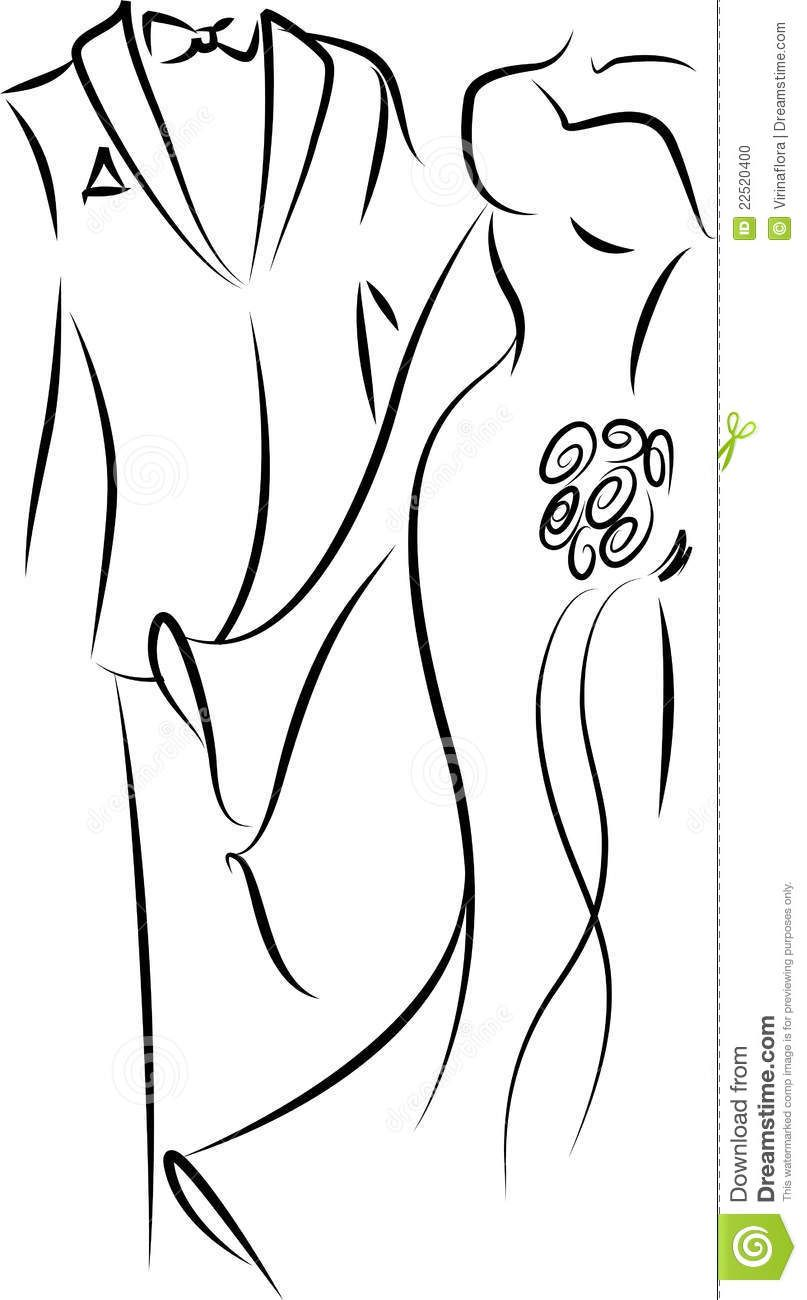 Of groom google search. Bridal clipart outline