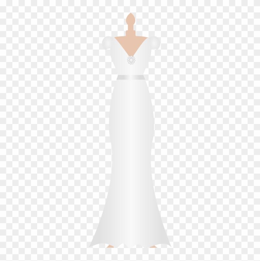 Bridal clipart outline. Wedding dress kid