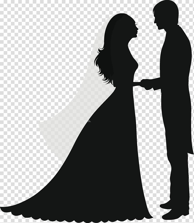 Groom and bride illustration. Clipart wedding person