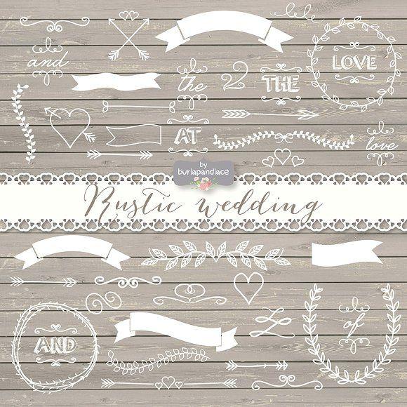 Vector graphics graphic design. Bridal clipart rustic wedding
