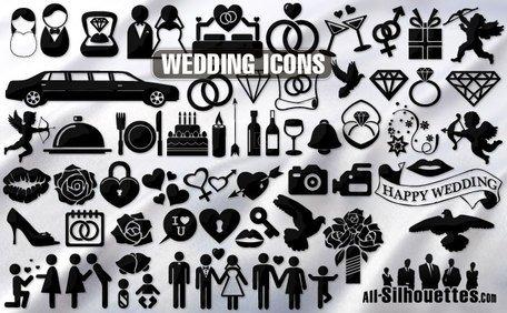 Free wedding icons symbols. Bridal clipart symbol