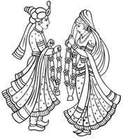 Wedding symbols hindu . Bridal clipart symbol