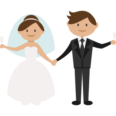 Bride and groom clipartuse. Bridal clipart transparent background