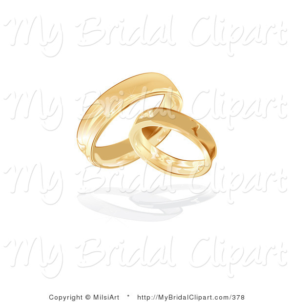 Bridal clipart wedding band. Of two entwined gold